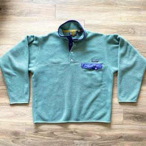 Vtg Patagonia Synchilla Sage Green Pullover Men's